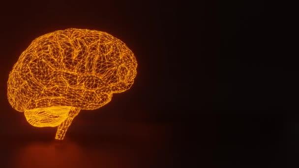 Elektronický světélkující mozek, soustava bodů a mnohoúhelníků.