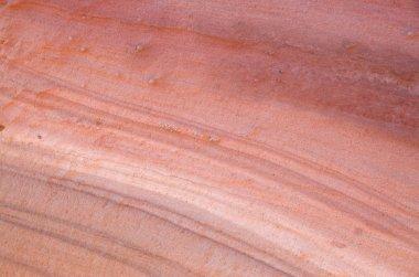 Colorful layers of sandstone closeup in desert Wadi Rum, Jorda