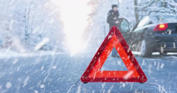 Winter Driving Cinemagraph - car breakdown on a mountain road - ProRes