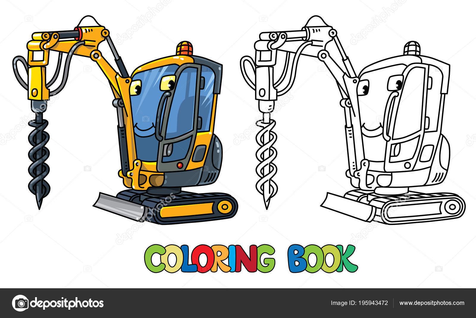 Petit Avec Les ForageVoiture YeuxLivre De Coloriage Camion W2YbEH9IeD