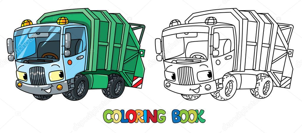 - ✅ Garbage Truck Or Trash Car Coloring Book. Small Funny Vector Cute  Automobile With Eyes And Mouth. Children Vector Illustration. Municipal  Machinery For Kids Premium Vector In Adobe Illustrator Ai ( .ai )