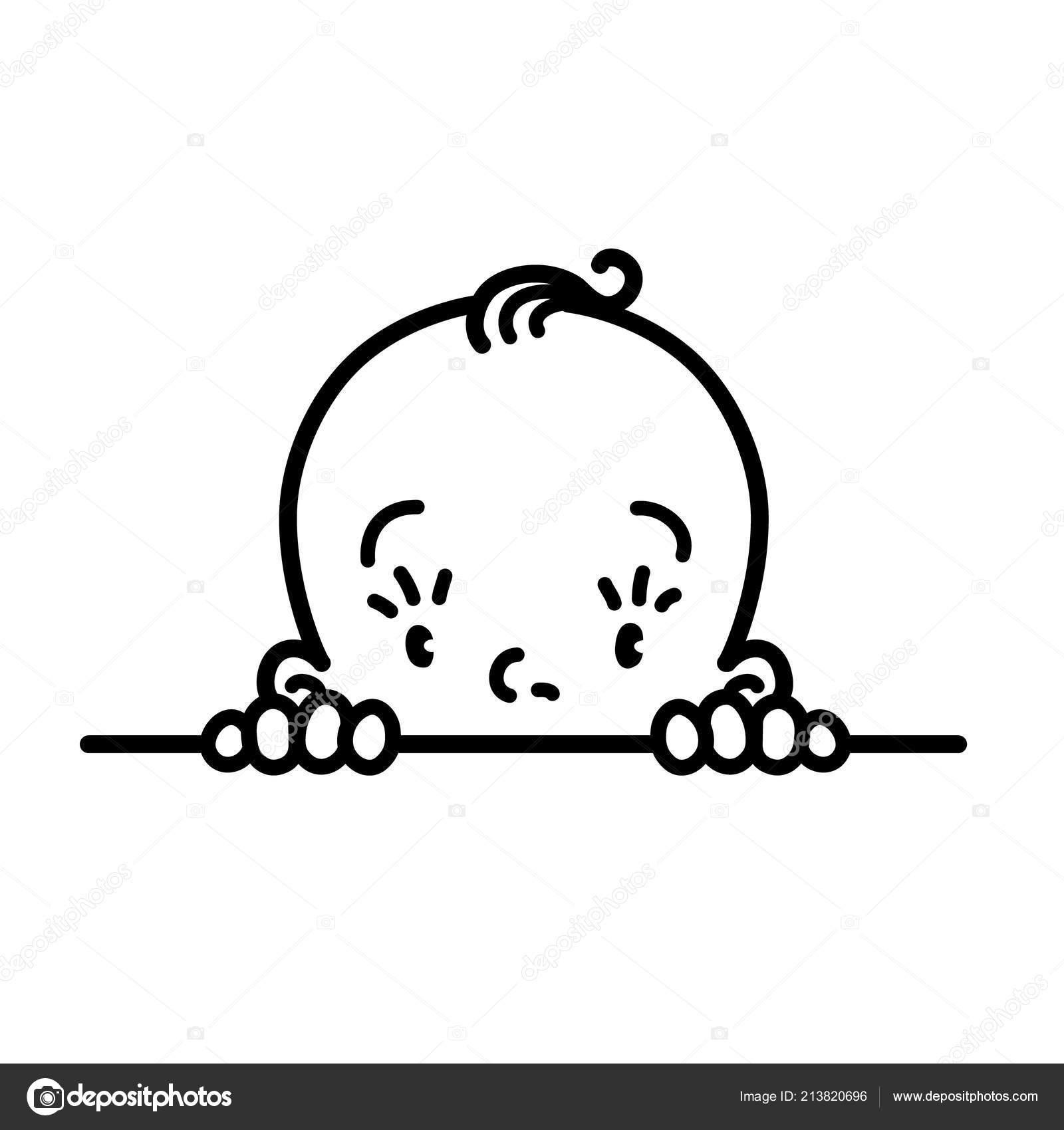 Icona Del Bambino Faccia Di Piccolo Ragazzo O Ragazza Disegno A