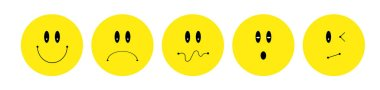 Set of funny emoticons icon