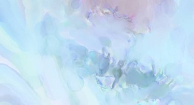 Modern painting of soothing brush strokes resembling alcohol inks. Watercolor abstract painting with pastel colors for poster, wall art, banner, card, book cover or packaging.