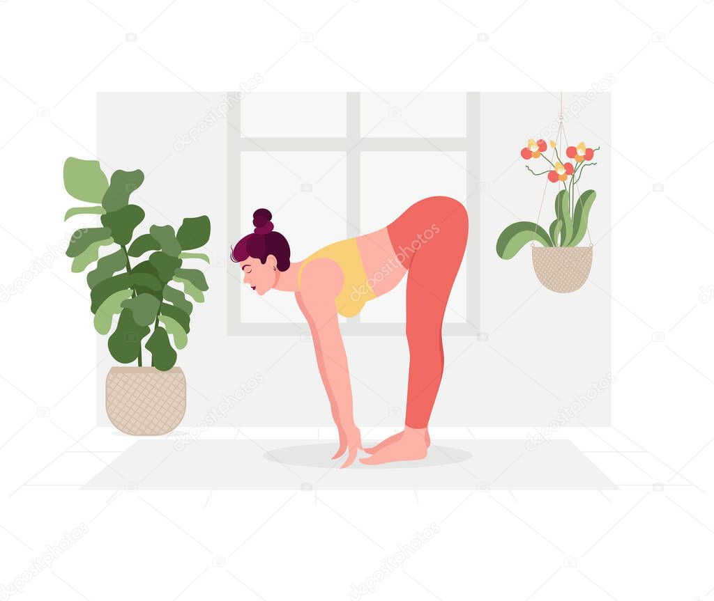 Creative Poster Or Banner Design With Illustration Of Woman Doing Yoga For Yoga Day Celebration Premium Vector In Adobe Illustrator Ai Ai Format Encapsulated Postscript Eps Eps Format