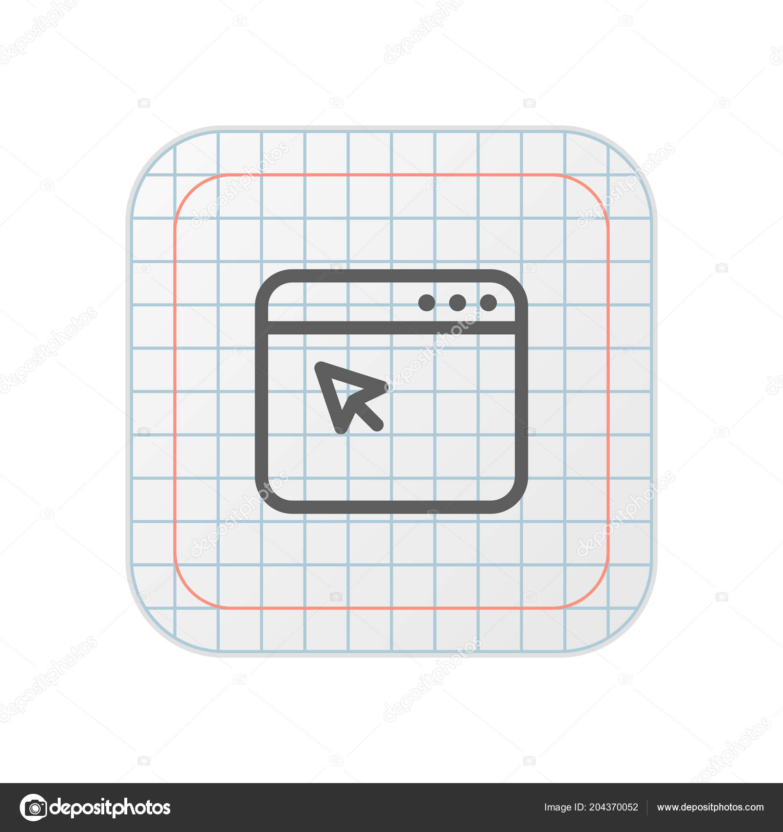Browser Grid App Button — Stock Vector © DigiClack #204370052