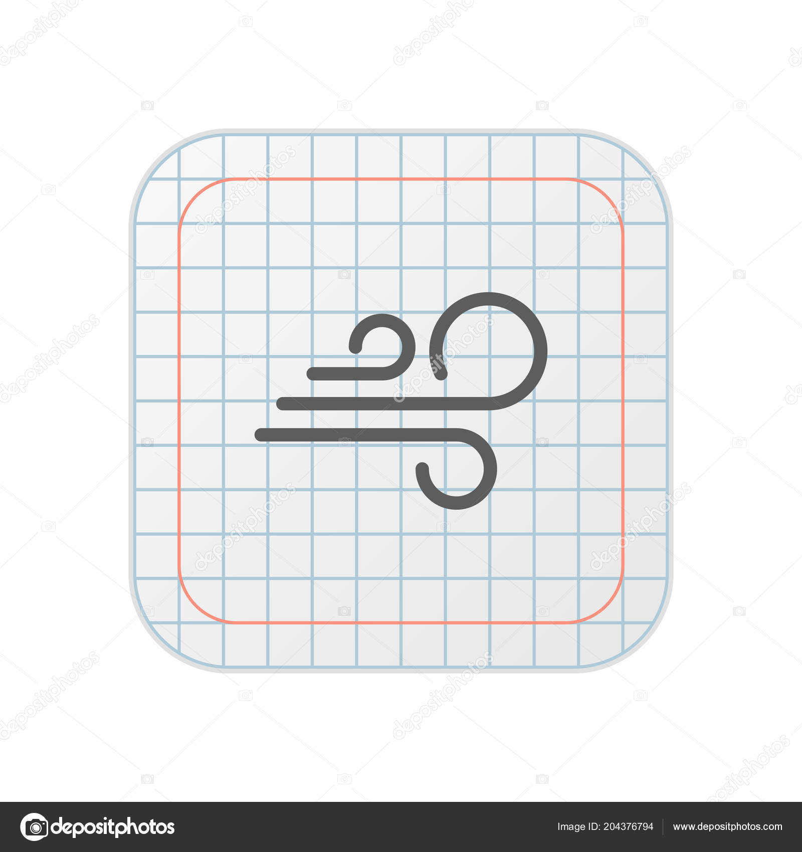 Wind Grid App Button — Stock Vector © DigiClack #204376794