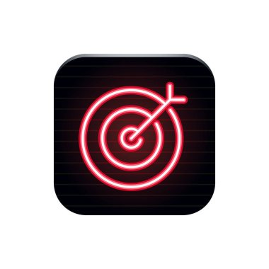 Target - Neon App Button
