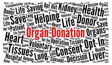 Organ donation word cloud