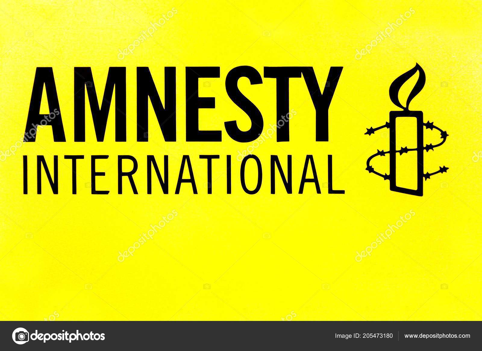 Copenhagen Denmark June 2018 Amnesty International Logo Wall Amnesty