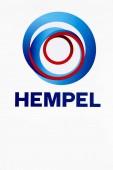 Aarhus, Dánsko - 7. srpna 2018: Hempel logo na zdi. Hempel je dodavatelem nátěrů do kontejneru dekorativní, ochranné, lodní, průmyslové a jachty trhy