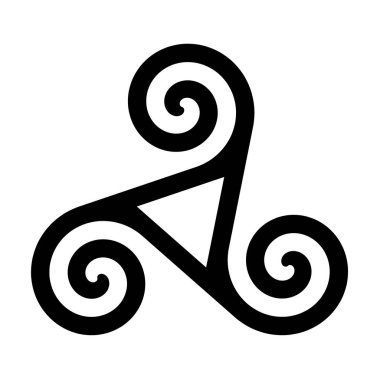 Triskelion with hollow triangle symbol icon