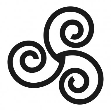 Triskelion symbol icon with a white background
