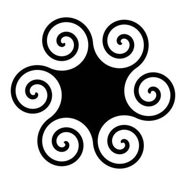 Polyskelion symbol icon illustration