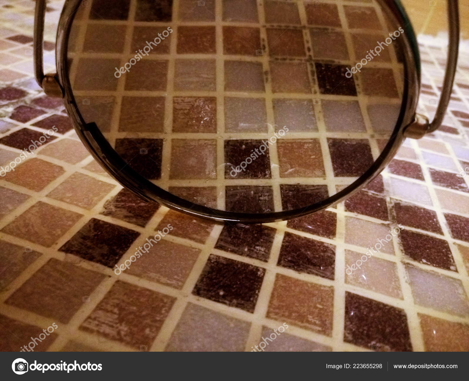 Tegola marrone mosaico bagno mattonelle piastrelle mosaico marrone