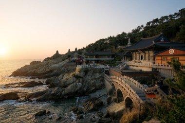 Haedong Yonggungsa Temple in morning in Busan, South Korea.