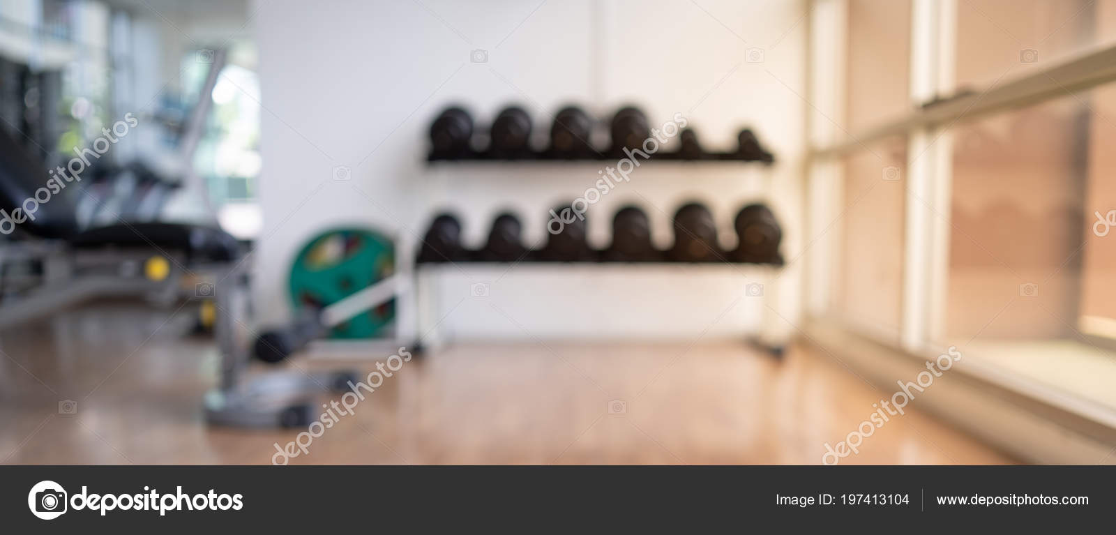 Blurred Fitness Gym Background Banner Fitness Exercise