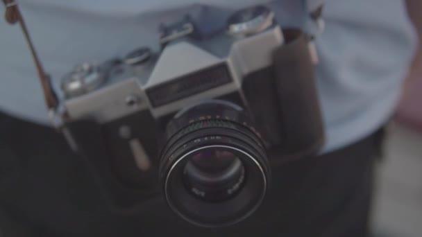 Vintage camera guy with camera