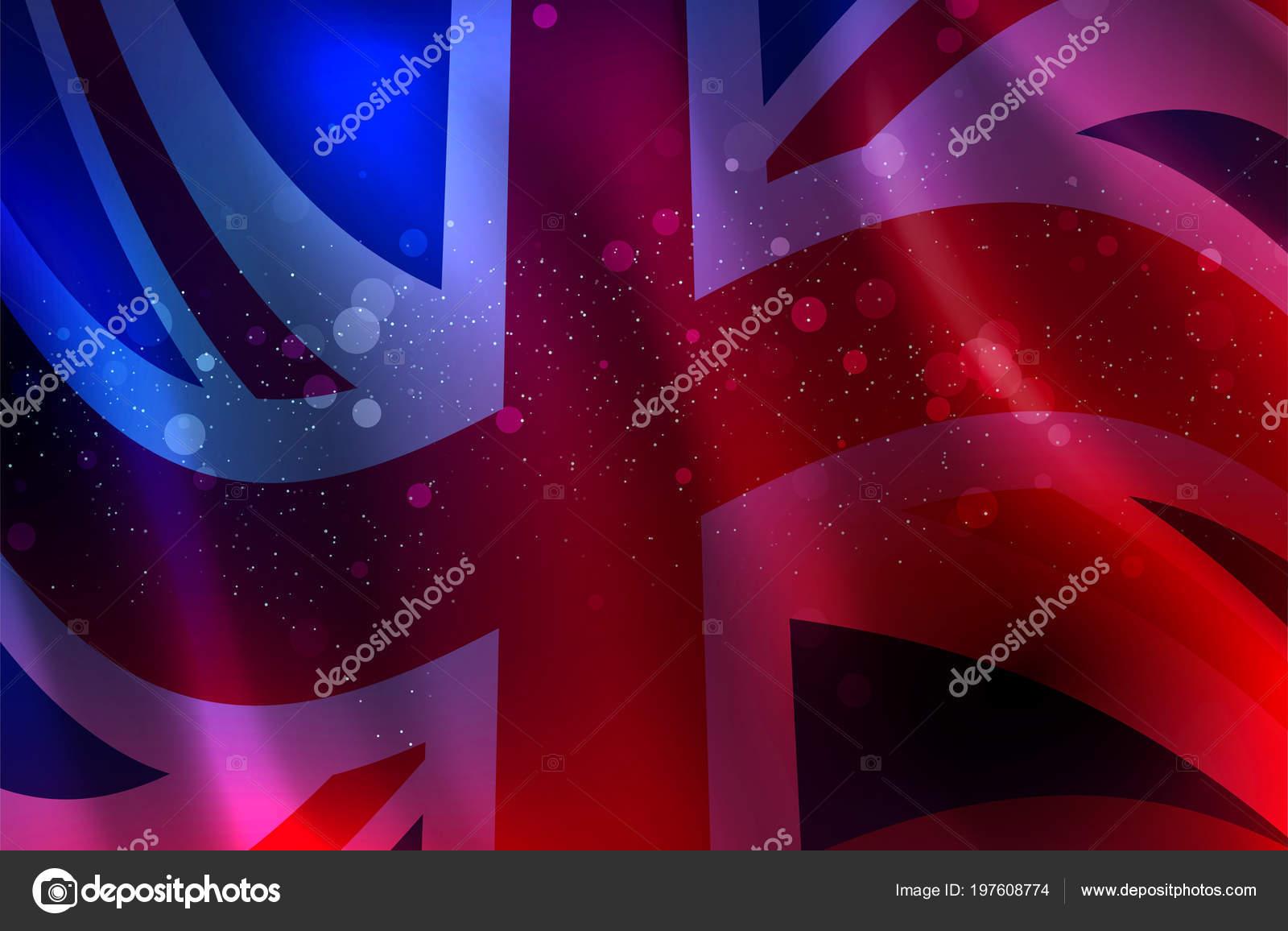 Zusammenfassung Hintergrund Wogenden Englische Flagge Vektor