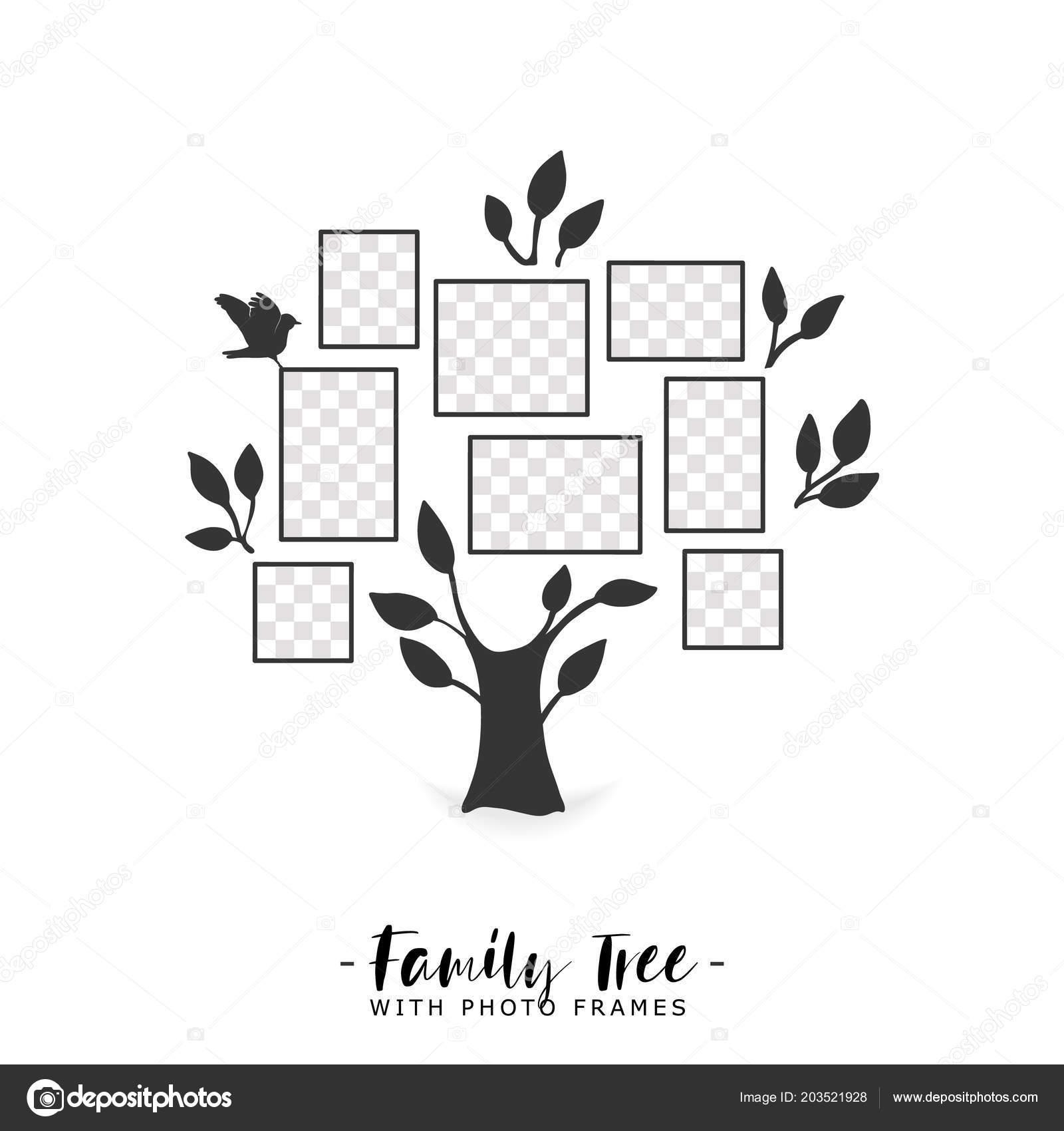Árbol de familia con marcos de fotos — Vector de stock © Liubou ...