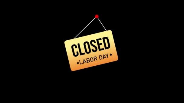 Happy Labor Day mozgókép animáció 4K méretben