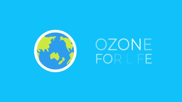 Motion graphic animation for International Day for the Preservation of the Ozone Layer . World ozone day. 16 September