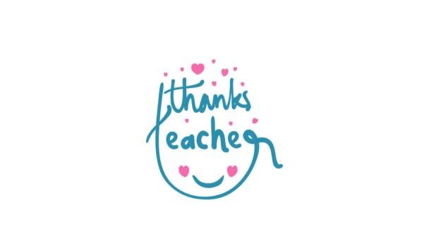 Motion Graphics Design zur Feier des Lehrertages. Glücklicher Gruß zum Lehrertag