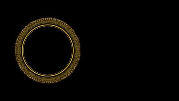 arany mandala határ / keret és hurok felvételek iszlám nyaralás háttér. 4K méret