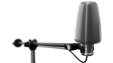 big condenser microphone. 3d illustration