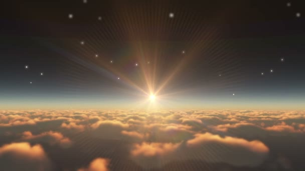 východ slunce nad mraky abstrakt