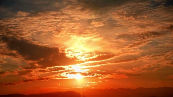 Gold-Panorama Sonnenuntergang Zeitraffer 4k