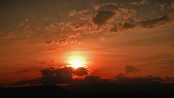 zlaté panorama slunce časová prodleva 4k
