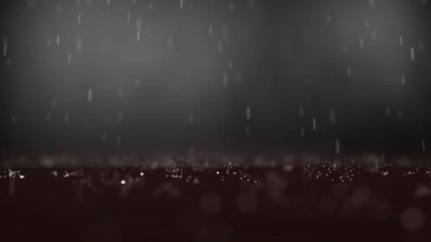 Regen in abstrakter Zeitlupe