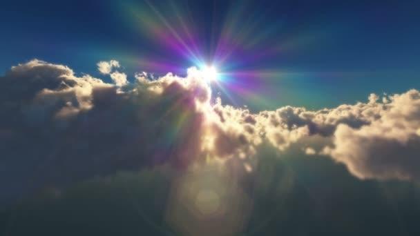 fent a felhők naplemente sun ray