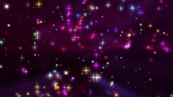 částice zářící světlo hvězdy