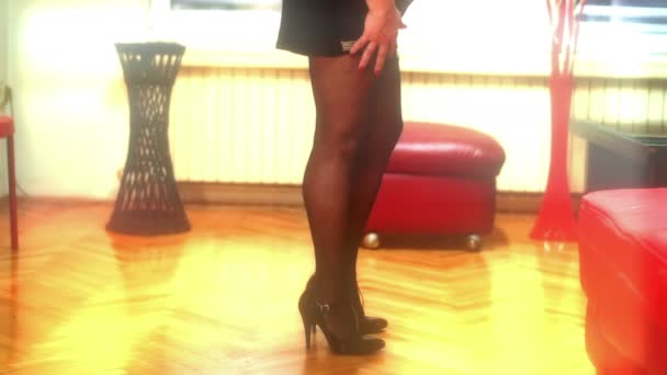 sexy woman in pantyhose 4k