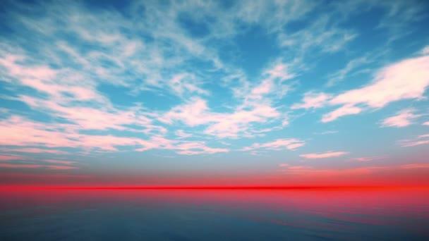 západ slunce nad oceánem krajina