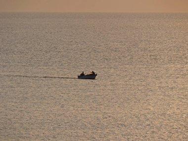 small fishing boat at sea