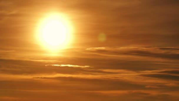 Gold Sonnenuntergang Zeitraffer 4k