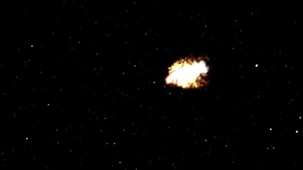 Meteor fliegt im Weltraum abstrakt
