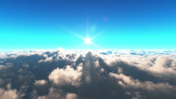 letět nad mraky slunce 4k