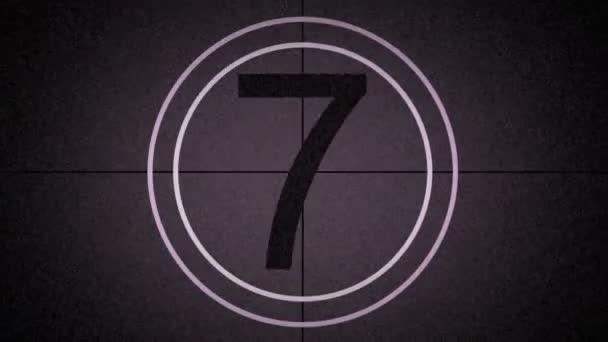 Countdown-Spitzenreiter grafischer alter Film