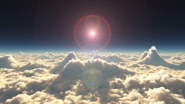 vysoko nad mraky západ slunce 4k