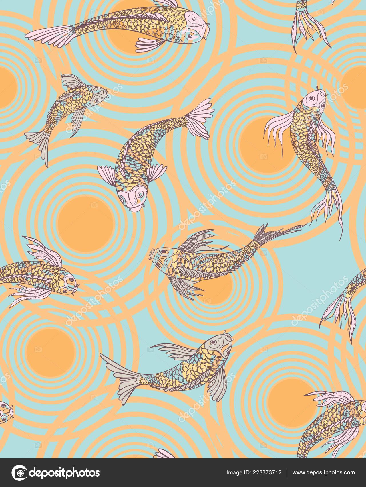 Illustration Fish Wallpaper Fish Seamless Pattern
