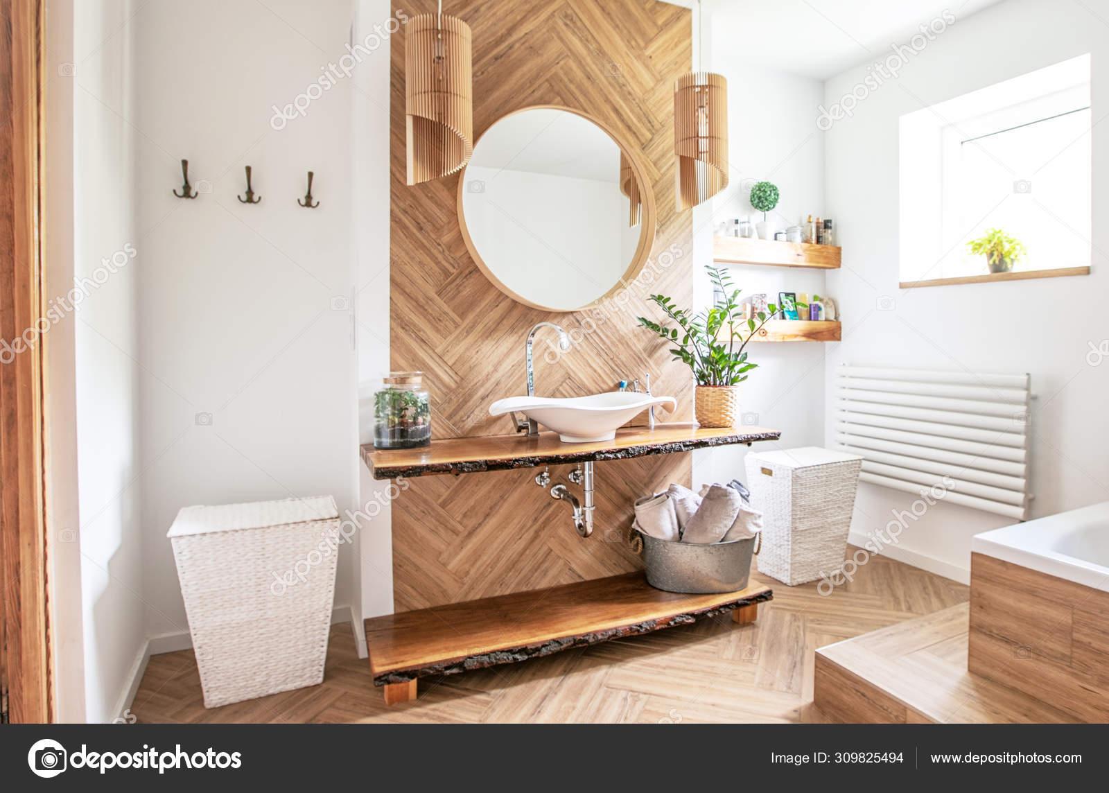 Boho style bathroom interior. Stock Photo by ©NeonShot 20