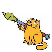 War cat with a grenade launcher.