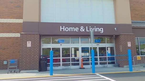 Editorial Gwinnett County USA 7.9.20 Senior citizens entering Walmart wearing a face mask