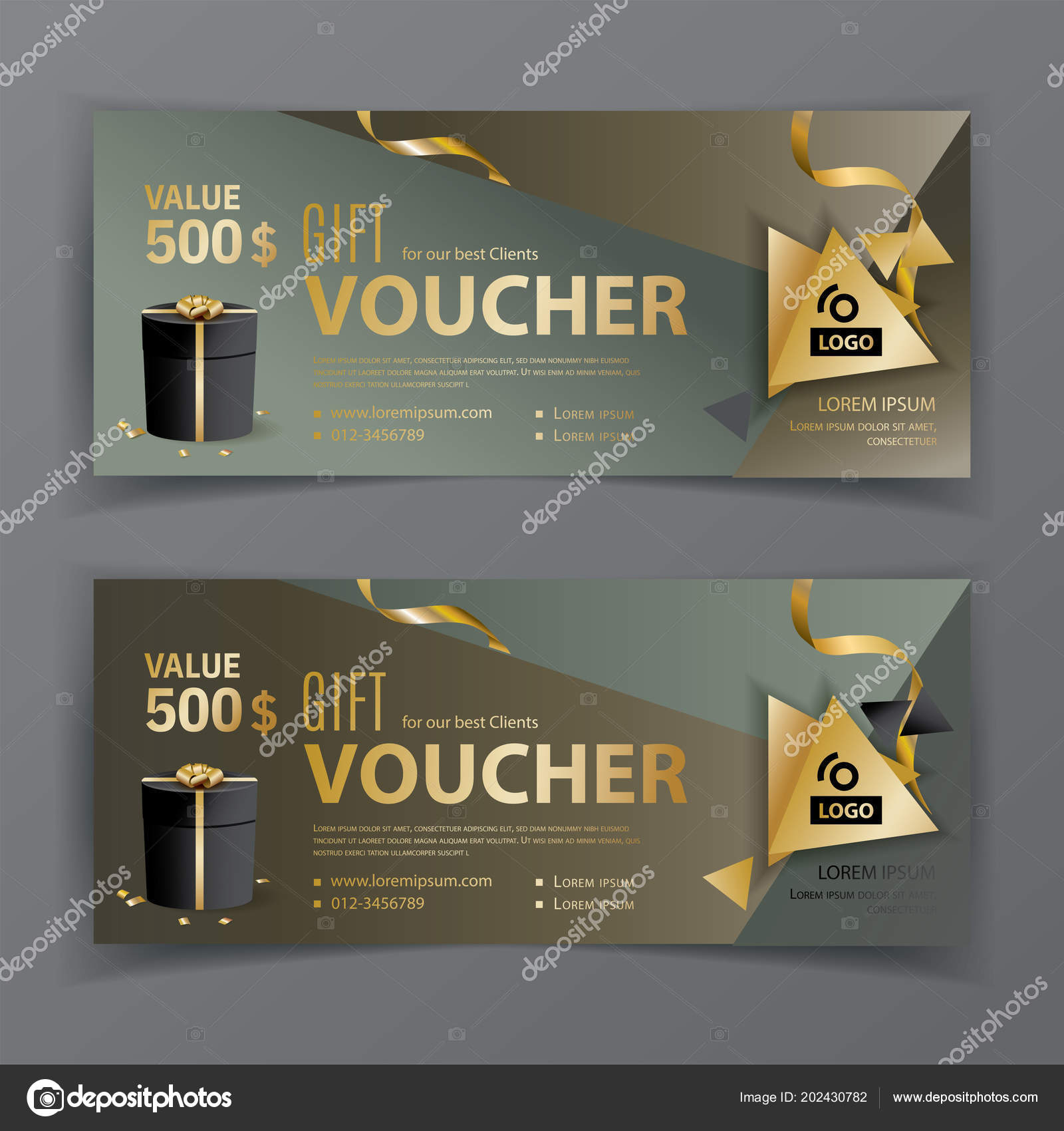 Vector voucher template universal flyer for business dark green vector voucher template universal flyer for business dark green brown gold design cheaphphosting Gallery