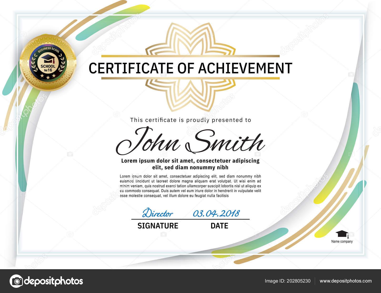 certificate official business line elements clean vector modern illustration blank olga depositphotos