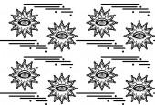 Fotografie Nahtlose Muster mit Hypnose Augen. Vektor abstrakten Hintergrund. Psyphodelic schwarz weiß Muster
